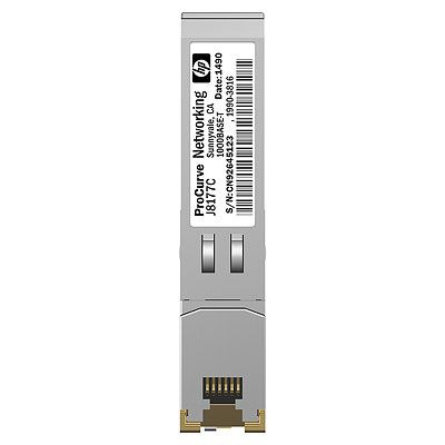 Hewlett packard enterprise media converter: X121 1G SFP RJ45 T Transceiver