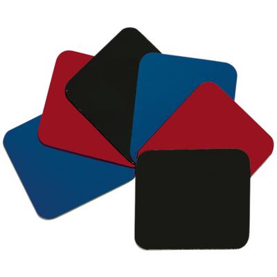 Ewent 255 x 220 x 5.5, 10pcs Muismat - Zwart,Blauw,Rood