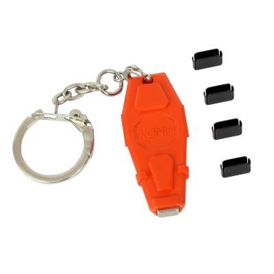 Lindy toegangscontrolesystem: USB C Type Port Locks 4x + 1 key - Rood