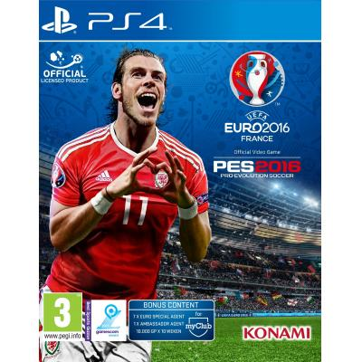 Konami game: UEFA Euro 2016 + Pro Evolution Soccer 2016  PS4