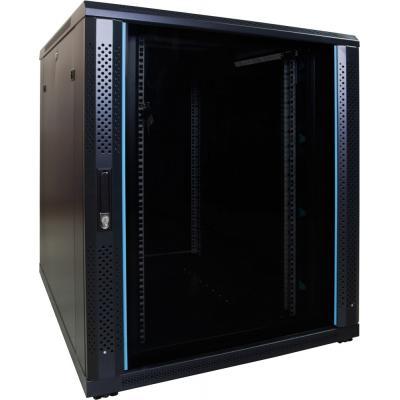 DS-IT 18U serverkast met glazen deur 800x1000x1000mm (BxDxH) Rack