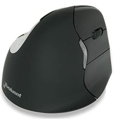 BakkerElkhuizen Evoluent4 Right Bluetooth Computermuis - Zwart