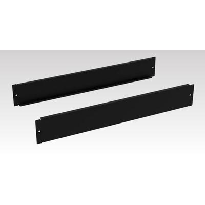 Minkels Set van 2 stuks 1000mm Sokkelplint blind, 100mm Rack toebehoren - Zwart