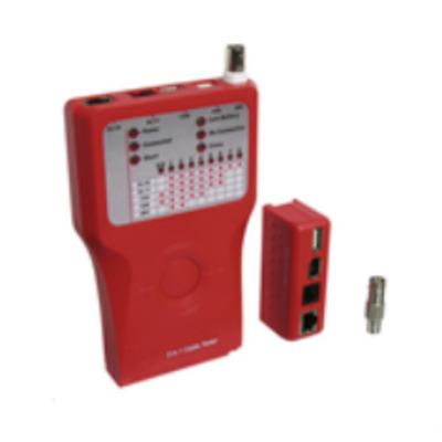 Microconnect Network Tester f/ RJ11/12/45, USB, IEEE1394, BNC Netwerkkabel tester - Rood