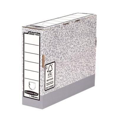 Fellowes archiefdoos: Bankers Box, System A4, transfer archiefdoos 80mm, Grijs