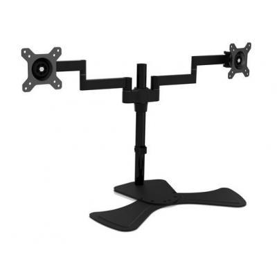 V7 monitorarm: Dual Swivel Desk Stand Mount - Zwart