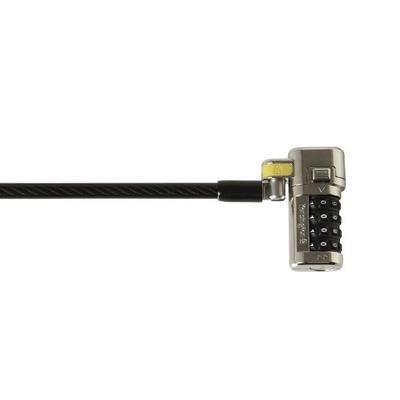 Kensington kabelslot: ClickSafe® Combination Ultra-laptopslot - Met mastercode - Zwart
