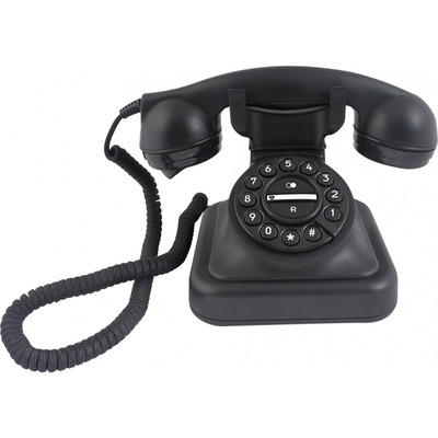 Profoon D-Sign Retro telefoon Dect telefoon - Zwart