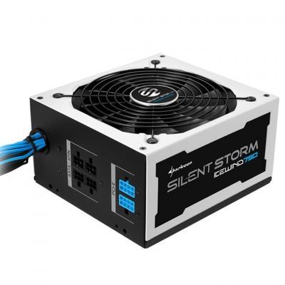 Sharkoon power supply unit: SilentStorm Icewind 750W - Zwart, Wit