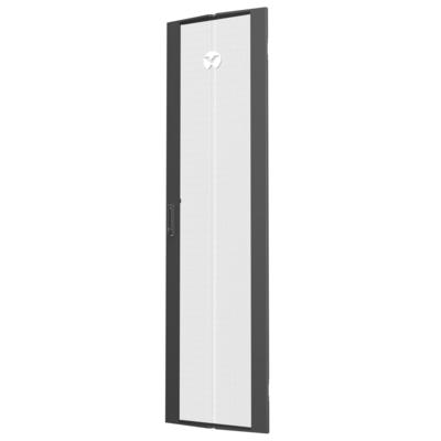 Vertiv 48U x 800mm, Wide Single Perforated Door, Black, 1x Rack toebehoren - Zwart