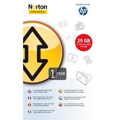 Hewlett packard enterprise backup software: HP / Norton onlinebackup 25GB 12 MND