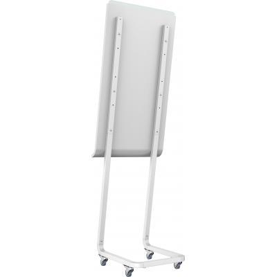 Vision TV standaard: TM-KP SMART Kapp 42 vloerconsole, In hoogte afstelbaar, Wit zijdeglans