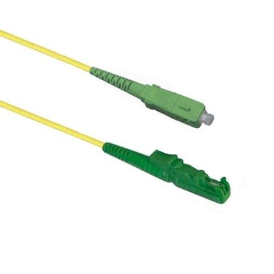 EECONN Glasvezel Patchkabel, 9/125 (OS1), E2000/APC - SC/APC, Simplex, 5m Fiber optic kabel - Geel