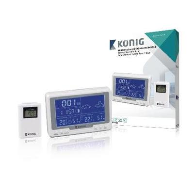 König weerstation: 128 x 30 x 90mm, 3x AAA/2x AAA, -50 - 70°C, 20-99%, White - Wit