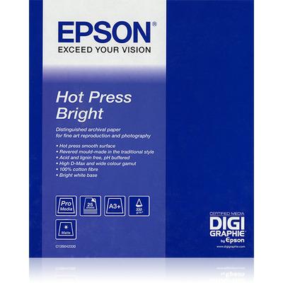 "Epson grootformaat media: Hot Press Bright 17""x 15m"