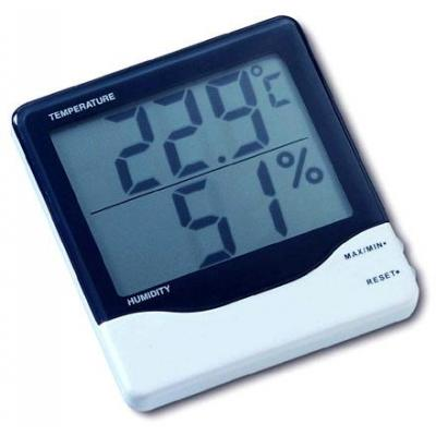 Tfa weerstation: Digital thermo-hygrometer - Zwart, Wit