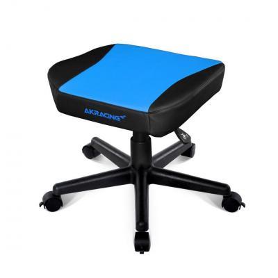 AKRacing voetsteun: PU leather, Blue/Black - Zwart, Blauw