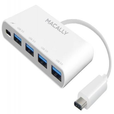 Macally hub: USB-C to USB-A Hub with USB-C Charging Port