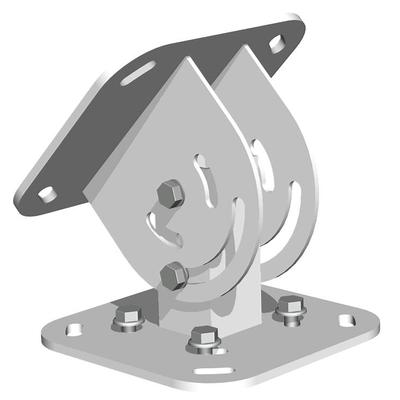 SmartMetals Hoekverstelling plafond traploos voor 072.1010 - 1030 AV stand accessoire - Grijs, Zilver