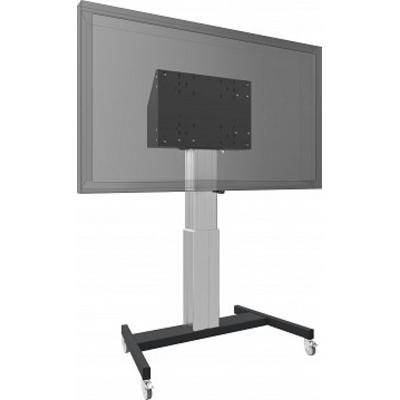 SmartMetals Vloerlift op wielen voor (touch-) flatscreens max. 120 kg ZWART TV standaard - Zwart, Grijs