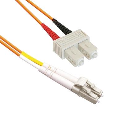 EECONN Glasvezel Patchkabel, 62.5/125 (OM1), LC - SC, Duplex, 0.5m Fiber optic kabel - Oranje
