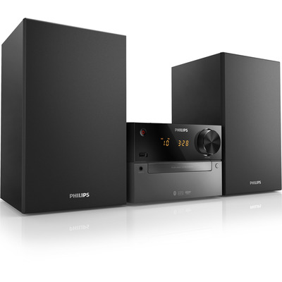 Philips BTM2310 - 15W, Bluetooth, LED, mp3, USB, FM, 3.55kg Home stereo set - Zwart
