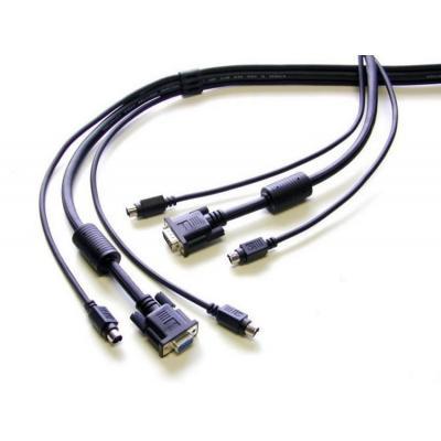 Newstar KVM kabel: De SVPS23N1-10 is een 3-in-1 KVM switch kabel van 3 meter. Hiermee sluit u een KVM switch aan op een .....