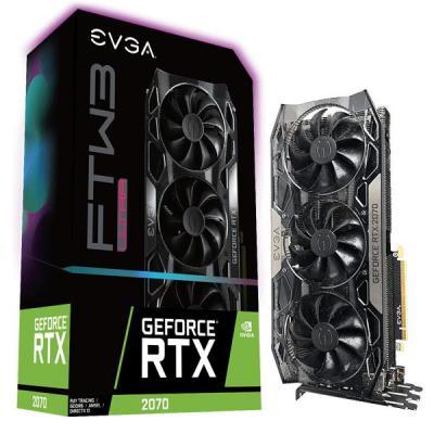 EVGA NVIDIA GeForce RTX 2070, 8GB GDDR6, 256 bit, 14000MHz, PCI Express x16 3.0, 1 x HDMI (2.0b), 3 x DP (1.4), 1 x .....