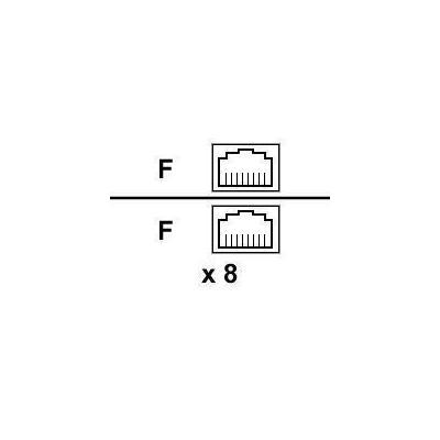 Cisco netwerkkabel: 8 ADAPTERS-RJ45 TO RJ45 SHLD