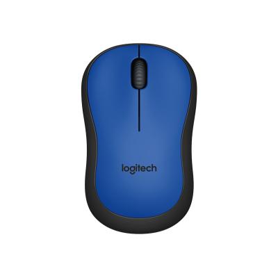 Logitech computermuis: M220 Silent - Blauw - Zwart, Blauw
