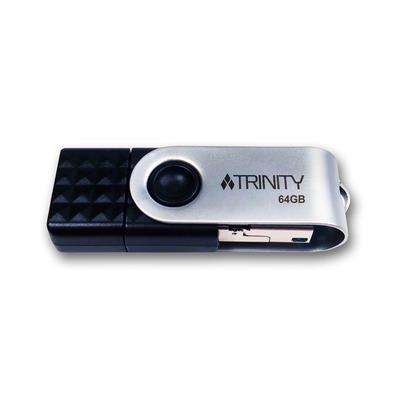 Patriot Memory Trinity 3in1 USB flash drive - Zwart, Zilver