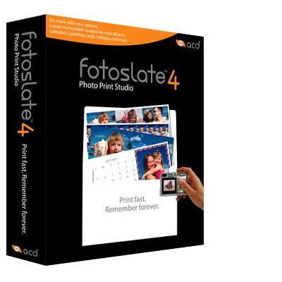 Acd systems grafische software: FotoSlate 4 Photo Print Studio, EN, 5-19U