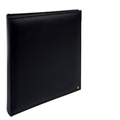 Henzo album: Luxury Book Bound Album, Black Pages & CD pocket - Zwart