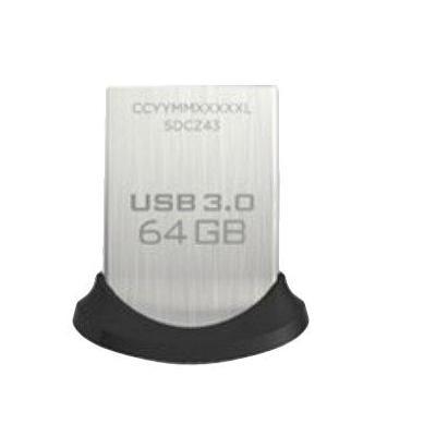 Sandisk USB flash drive: Ultra Fit - Zwart, Zilver
