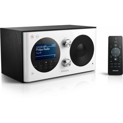 Philips radio: Klokradio AE8000/10 - Zwart, Zilver