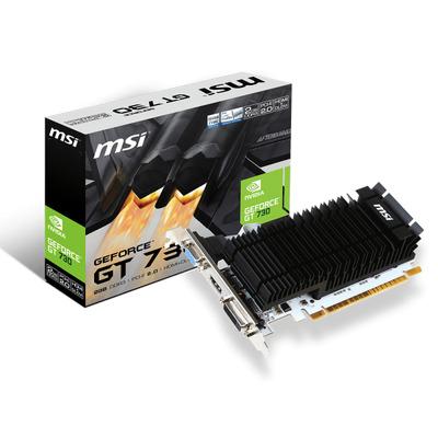 MSI PCI Express 2.0, 2GB DDR3, 902/1600 MHz, 64-bit Videokaart - Zwart