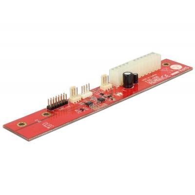DeLOCK 1 x ATX 24 pin, LED, 175.3 x 30 x 16 mm Computerkast onderdeel - Rood