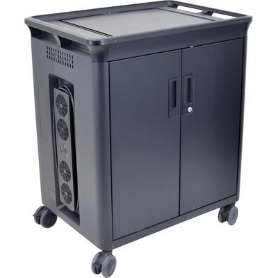 HP 20 Mgd Charging Cart V2 Multimedia kar & stand - Zwart
