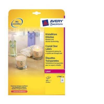Avery L7780-25 Etiket - Transparant