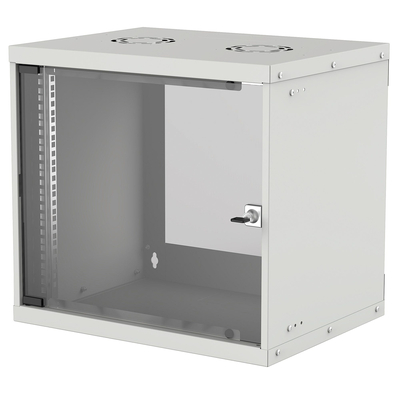 "Intellinet 19"" Basic Wallmount Cabinet, 9U, 560mm Deep, IP20-Rated Housing, Max 50kg, Flatpack, Grey Rack - ....."