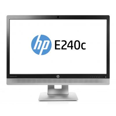 Hp monitor: EliteDisplay E240c - 23.8'' Full HD - Zwart, Zilver