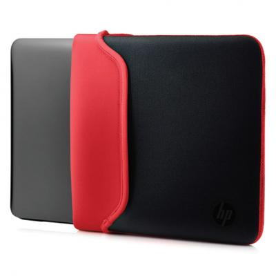 "Hp laptoptas: 15.6"" Neoprene Sleeve Black/Red - Zwart, Rood"