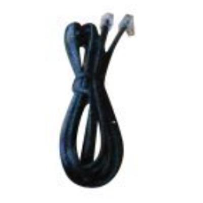 Jabra telefoon kabel: RJ-9/RJ-9, 1.5 m - Zwart