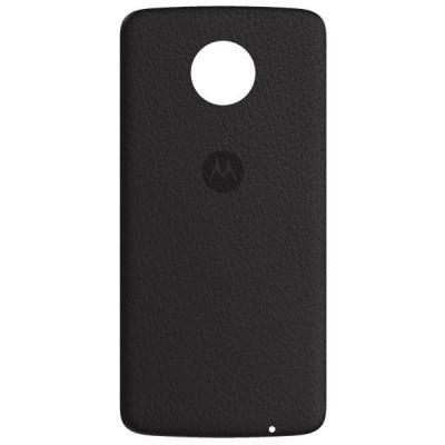 Lenovo mobile phone case: Mods Back Cover - Black Leather - Zwart