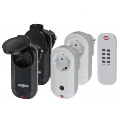 Brennenstuhl stekker-adapter: omfort-Line Remote Control Set RC CE1 2201 1x 4 channel sender, 2x remote receivers .....