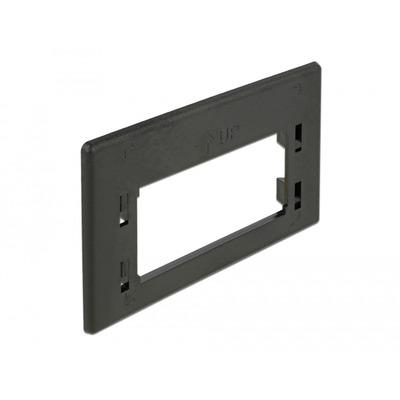 DeLOCK Keystone Adapter Plate for furniture installation outlet Montagekit - Zwart