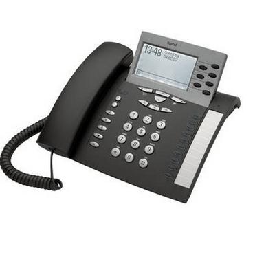 Tiptel 85 system S0 IP telefoon - Zwart,Zilver