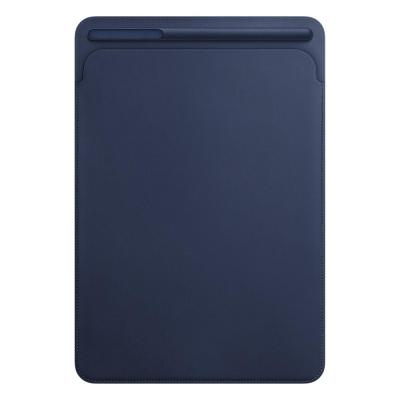 Apple tablet case: Leren Sleeve voor 10.5'' iPad Pro - Midnight Blue - Blauw