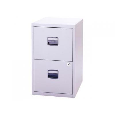Bisley archiefkast: Ladenkast 2 x A-lade lichtgrijs