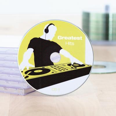 Herma etiket: CD labels Maxi A4 Ø 116 mm white paper matt opaque 50 pcs. - Wit